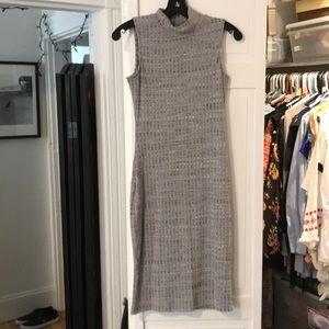 Mock turtleneck bodcon dress